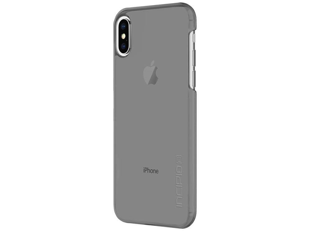 где купить Накладка Incipio Feather Pure для iPhone X прозрачный серый IPH-1644-SMK дешево