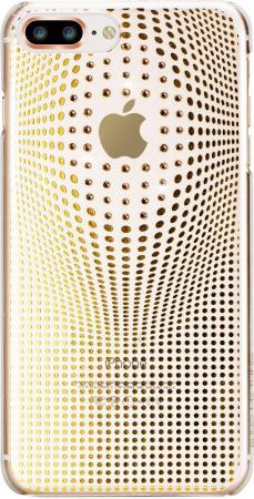 Чехол Bling My Thing для iPhone 8 Plus. Коллекция Warp Deluxe. Цвет золотой. Материал пластик.