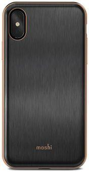 Чехол Moshi iGlaze для iPhone X. Сделан из ударопрочного пластика. Цвет: черный.