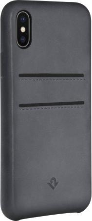 Чехол-накладка Twelve South Relaxed Leather для iPhone X кожа серый 12-1739 twelve