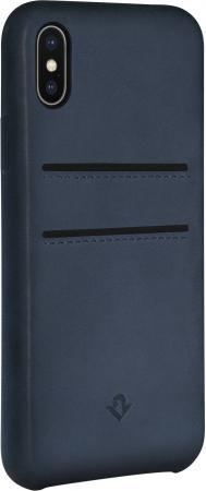 Чехол-накладка Twelve South Relaxed Leather для iPhone X кожа синий 12-1740 чехол накладка twelve south relaxed для iphone 7 материал натуральная кожа цвет светло коричневый