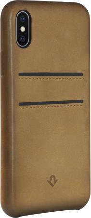 Чехол-накладка Twelve South Relaxed Leather для iPhone X кожа коричневый 12-1737 чехол накладка twelve south relaxed для iphone 7 материал натуральная кожа цвет светло коричневый