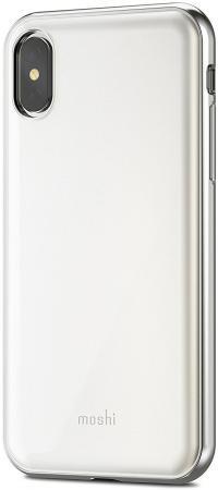 Чехол Moshi iGlaze для iPhone X пластик белый 99MO101101 цена