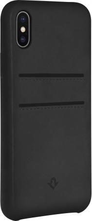 Чехол-накладка Twelve South Relaxed Leather для iPhone X кожа черный 12-1736 чехол twelve south bookbook для iphone 5 в спб