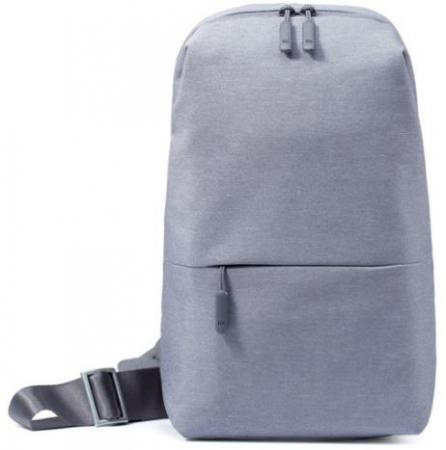 Рюкзак 7 Xiaomi Mi City Sling Bag серый рюкзак xiaomi mi city backpack 15 полиэстер и нейлон светло серый [zjb4066gl]