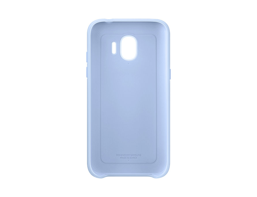 Чехол (клип-кейс) Samsung для Samsung Galaxy J2 (2018) Dual Layer Cover голубой (EF-PJ250CLEGRU) чехол samsung для samsung galaxy j2 2018 dual layer cove белый ef pj250cwegru