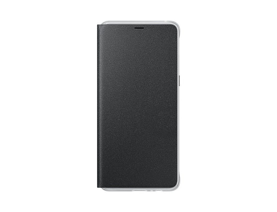 Чехол-книжка для Samsung Galaxy A8+ Samsung Neon Flip Cover Black флип, полиуретан, поликарбонат