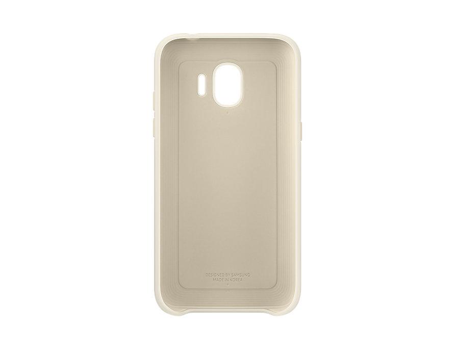 Чехол (клип-кейс) Samsung для Samsung Galaxy J2 (2018) Dual Layer Cover золотистый (EF-PJ250CFEGRU) аксессуар чехол накладка samsung galaxy j2 2018 jelly cover pink ef aj250tpegru