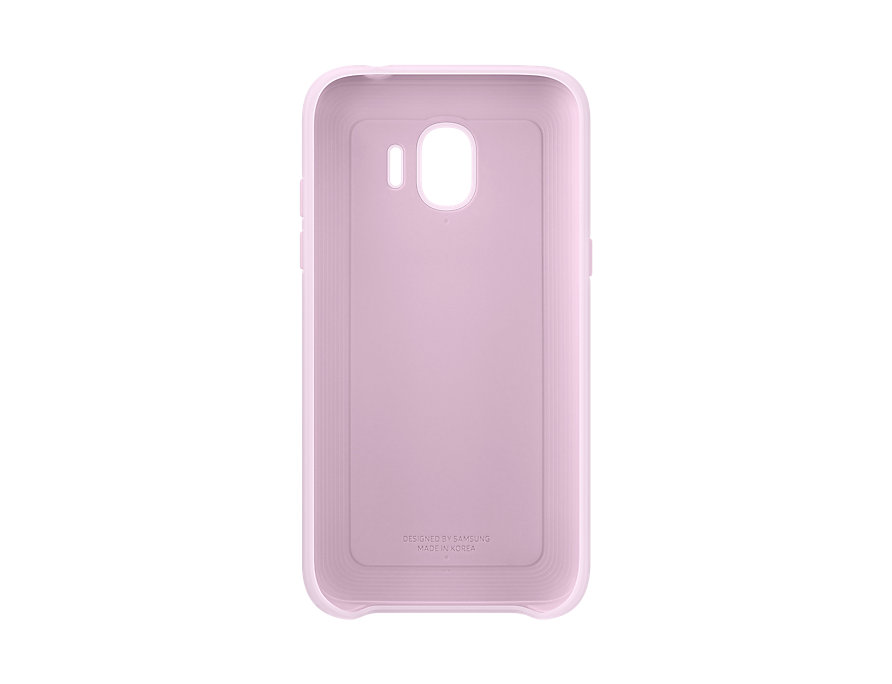 Чехол (клип-кейс) Samsung для Samsung Galaxy J2 (2018) Dual Layer Cover розовый (EF-PJ250CPEGRU) чехол samsung для samsung galaxy j2 2018 dual layer cove белый ef pj250cwegru