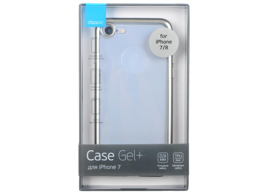 Чехол Deppa Gel Plus Case матовый для Apple iPhone 7 / iPhone 8, серебристый, 85282 чехол аккумулятор deppa nrg case для iphone 7 plus белый