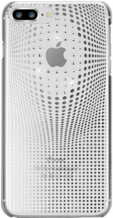 Накладка Bling My Thing Warp Deluxe для iPhone 8 Plus серебряный с кристаллами Swarovski