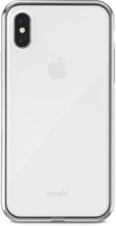 Накладка Moshi Vitros для iPhone X серебряный 99MO103201 цена