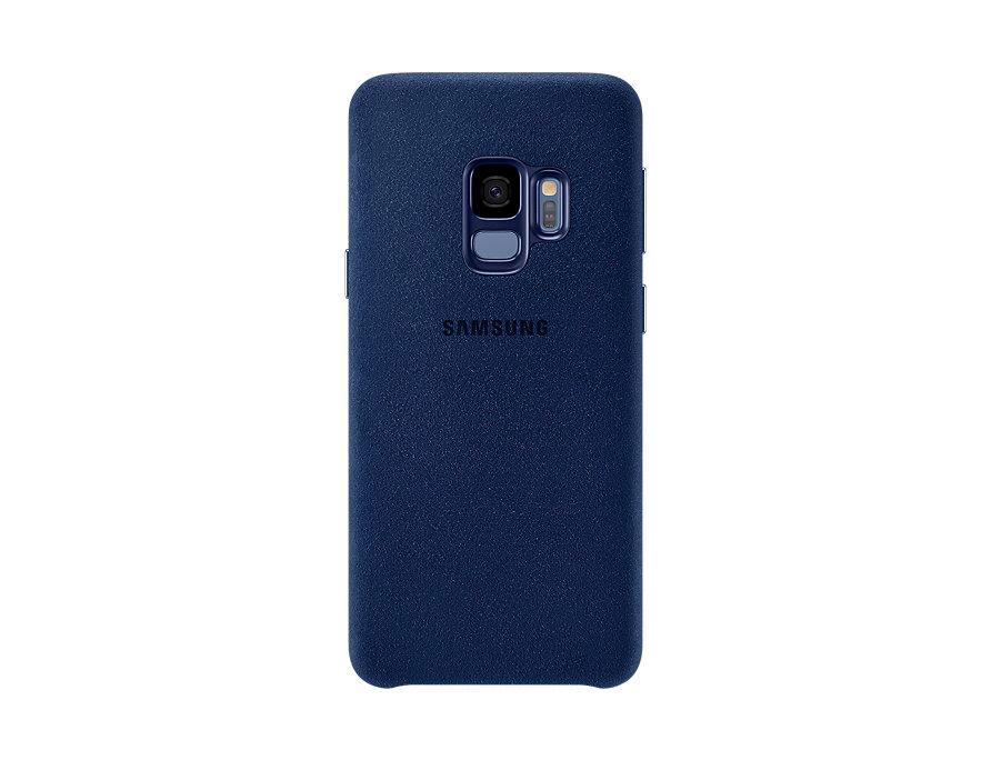 Чехол-накладка для Samsung Galaxy S9 Samsung Alcantara Blue клип-кейс, поликарбонат чехол накладка для samsung galaxy j8 samsung dual layer cover black клип кейс полиуретан поликарбонат