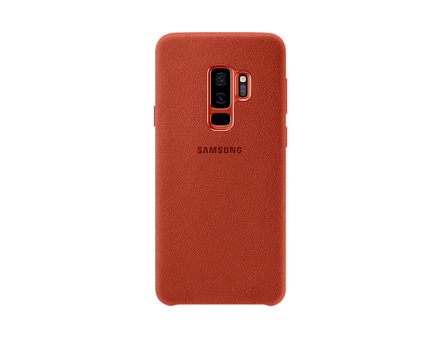 Чехол (клип-кейс) Samsung для  Galaxy S9+ Alcantara красный (EF-XG965AREGRU)