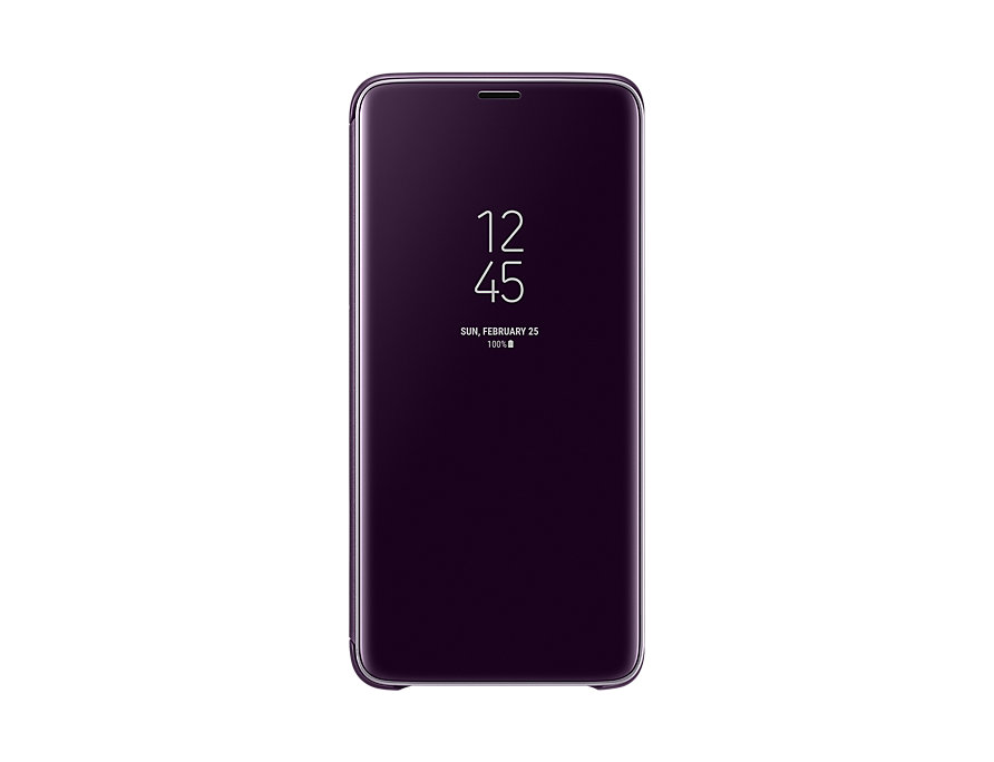 Чехол (флип-кейс) Samsung для Samsung Galaxy S9+ Clear View Standing серый (EF-ZG965CVEGRU) samsung ef za510czegru для galaxy a5 2016 clear view pink gold