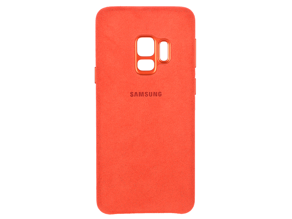 Чехол-накладка для Samsung Galaxy S9 Samsung Alcantara Red (EF-XG960AREGRU) клип-кейс, поликарбонат аксессуар чехол накладка samsung galaxy s9 plus alcantara cover black ef xg965abegru