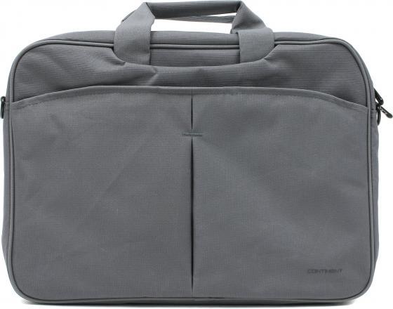 Сумка для ноутбука Continent CC-012 Grey до 15,6 (нейлон/полиэстер, Grey, 42 x 30 x 5 см.) сумка для ноутбука continent cc 031 redprints до 15 6 нейлон полиэстер красный 40 x 30 5 x 8 см