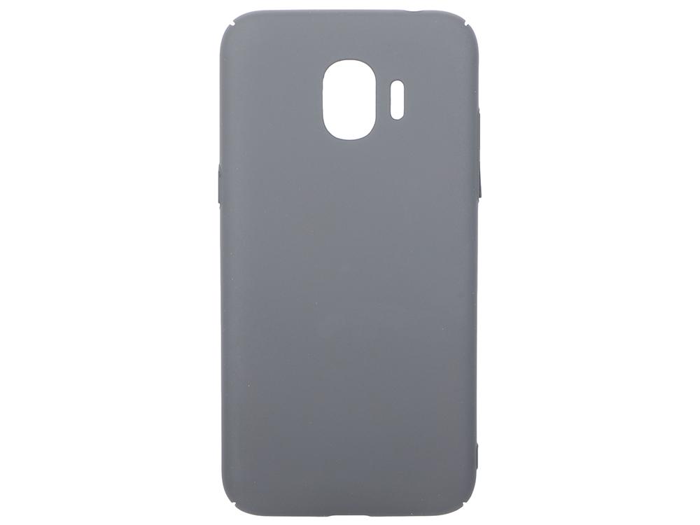 Чехол-накладка для Samsung Galaxy J2 (2018)/J2 Pro (2018) DF sSlim-34 Grey клип-кейс, пластик soft-touch чехол клип кейс lazarr soft touch для samsung galaxy s4 i 9500 пластик белый