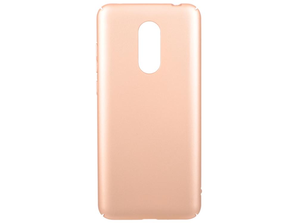 Чехол soft-touch для Xiaomi Redmi 5 Plus DF xiSlim-03 (gold) чехол soft touch для asus zenfone 3 ze552kl df aslim 17