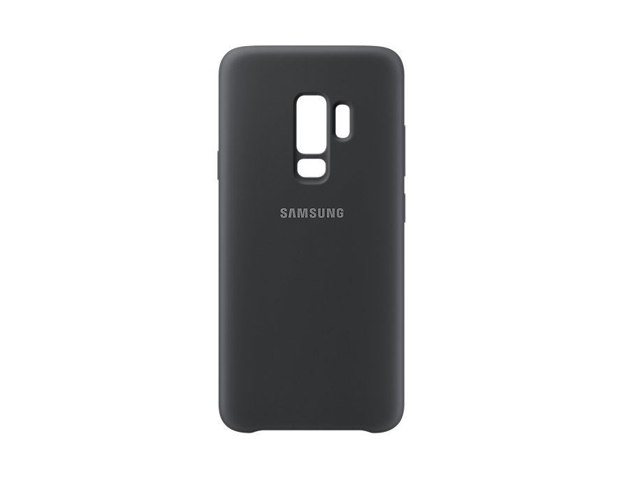 Чехол-накладка для Samsung Galaxy S9+ Silicone Cover Black клип-кейс, силикон