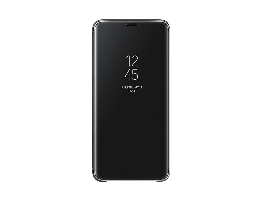 Чехол-книжка для Samsung Galaxy S9+  Clear View Standing Black флип, полиуретан, поликарбонат