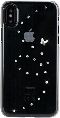 Накладка Bling My Thing Papillon. Pure Brilliance для iPhone X прозрачный с кристаллами Swarovski