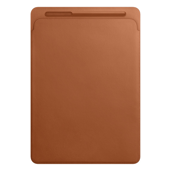 Leather Sleeve for 12.9 iPad Pro - Saddle Brown case for ipad pro 10 5 ultra retro pu leather tablet sleeve pouch bag cover for ipad 10 5 inch a1701 a1709 funda tablet case