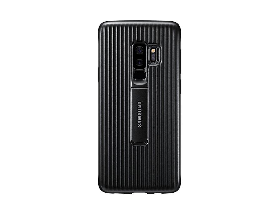 Чехол (клип-кейс) Samsung для Samsung Galaxy S9+ Protective Standing черный (EF-RG965CBEGRU) чехол клип кейс samsung clear cover для samsung galaxy s8 черный [ef qg955cbegru]