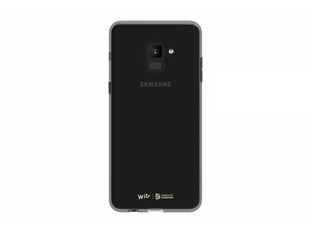 Чехол (клип-кейс) Samsung для Samsung Galaxy A8+ WITS SOFT COVER черный (GP-A730WSCPAAC) чехол клип кейс samsung для samsung galaxy j2 2018 wits soft cover черный gp j250wscpaac