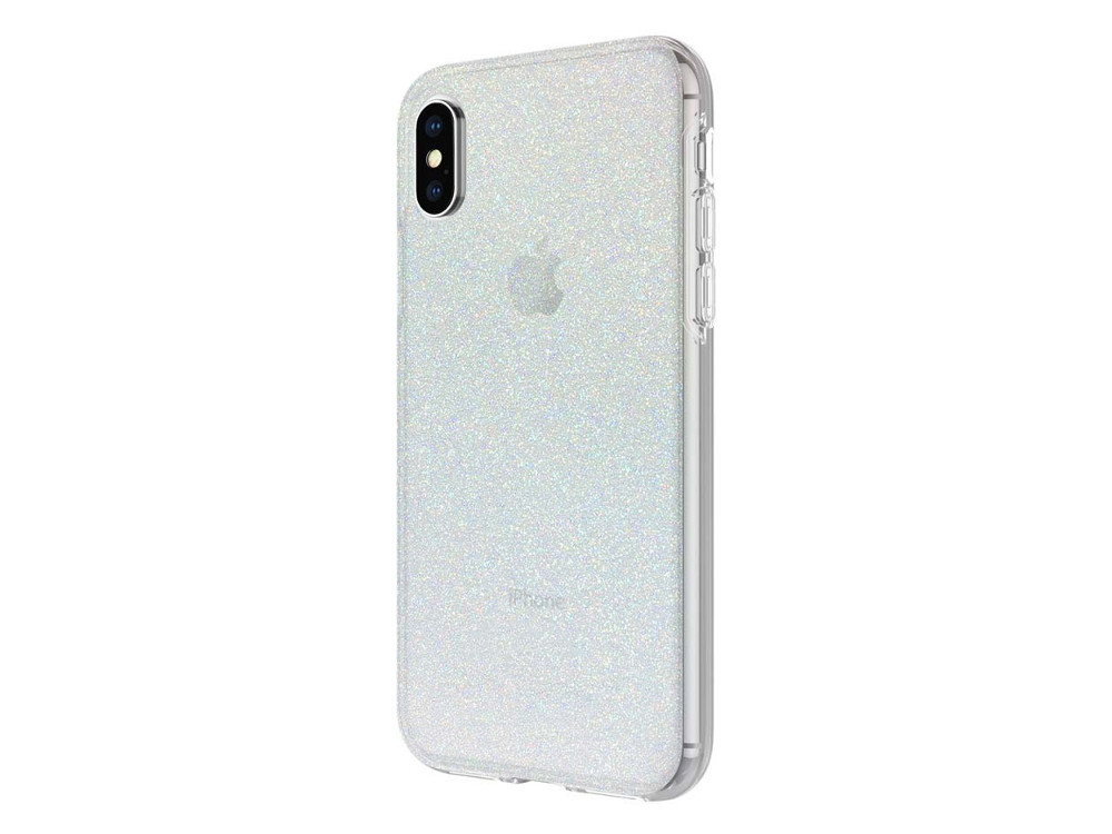 Чехол Incipio Design Series Classic для iPhone X. Материал пластик. Дизайн Iridescent White Glitter. glitter criss cross design sandals
