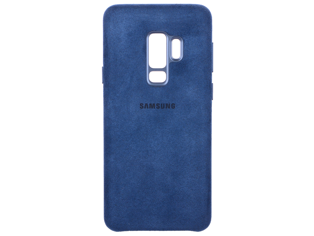 Чехол-накладка для Samsung Galaxy S9+ Samsung Alcantara Cover Blue клип-кейс, алькантара, поликарбонат чехол для samsung galaxy s8 samsung alcantara cover blue клип кейс поликарбонат