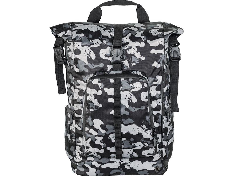 Рюкзак для ноутбука 15.6 HAMA Roll-Top полиуретан серый/камуфляж 00101818 рюкзак hama sweet owl pink blue