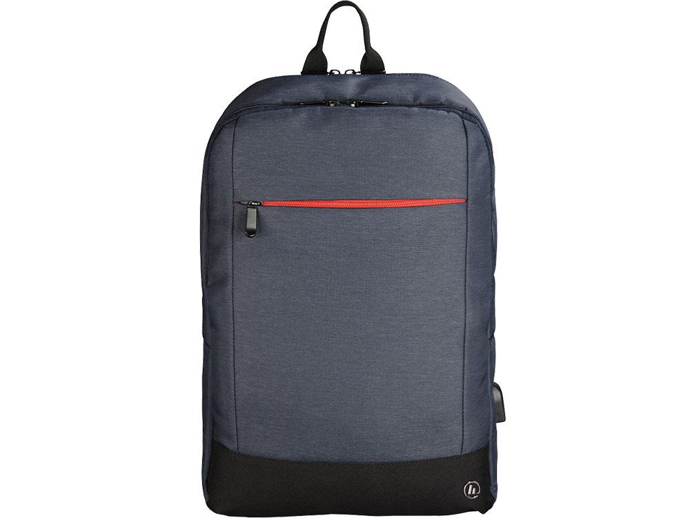 Рюкзак для ноутбука 15.6 HAMA Manchester полиэстер синий 00101826 рюкзак для ноутбука 15 6 hama manchester полиэстер черный 00101825