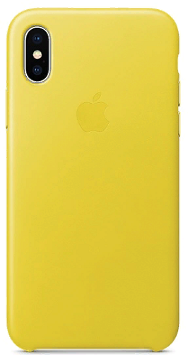 iPhone X Leather Case - Spring Yellow