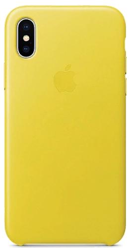 Чехол-накладка для iPhone X Apple Leather Case Spring Yellow клип-кейс, кожа чехол для apple iphone 8 7 silicone case white