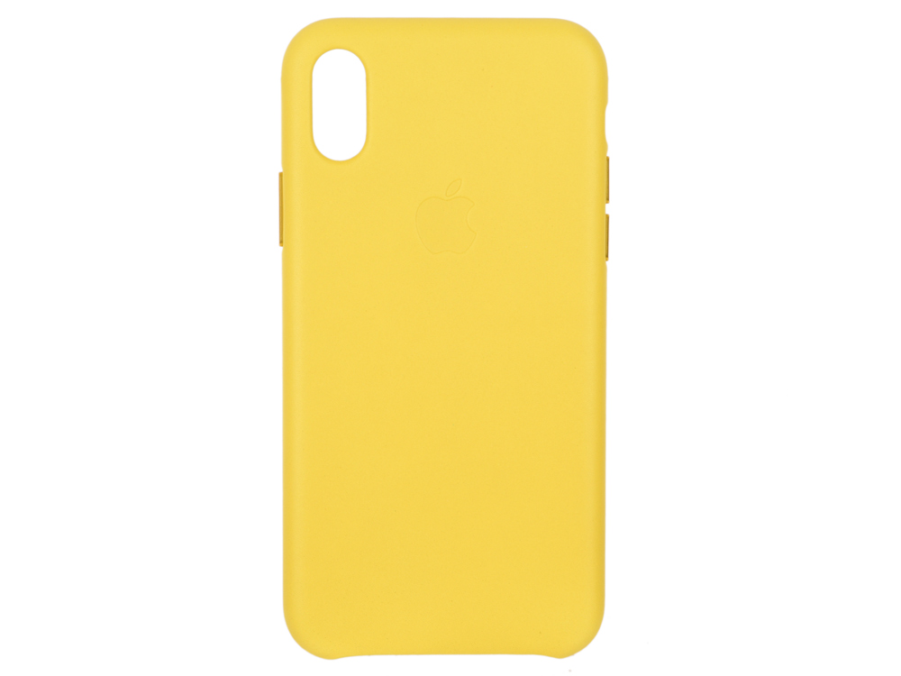 Чехол-накладка для iPhone X Apple Leather Case Spring Yellow клип-кейс, кожа аксессуар чехол для apple iphone x pitaka aramid case black yellow twill ki8006x