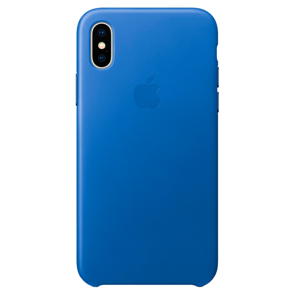 Чехол-накладка для iPhone X Leather Case - Electric Blue клип-кейс, кожа fashion 360 rotating case for ipad pro 12 9 inch litchi leather stand back cover apple fundas