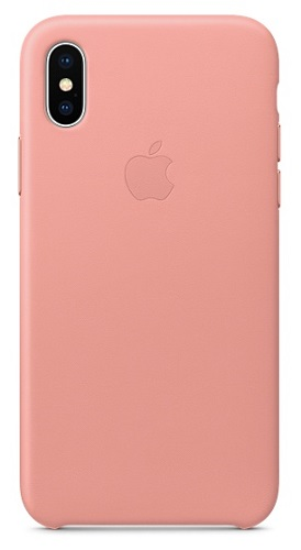Чехол-накладка для iPhone X Leather Case Soft Pink клип-кейс, кожа pudini wb moto x stylish flip open pu leather case w holder for motorola x phone deep pink gray