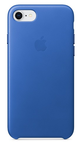 Чехол-накладка для iPhone 8 / 7 Apple Leather Case Electric Blue клип-кейс, кожа клип кейс i paint soft case smile для apple iphone 7 8 с рисунком