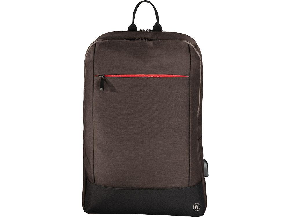 Рюкзак для ноутбука 15.6 HAMA Manchester полиэстер коричневый 00101827 рюкзак hama sweet owl pink blue