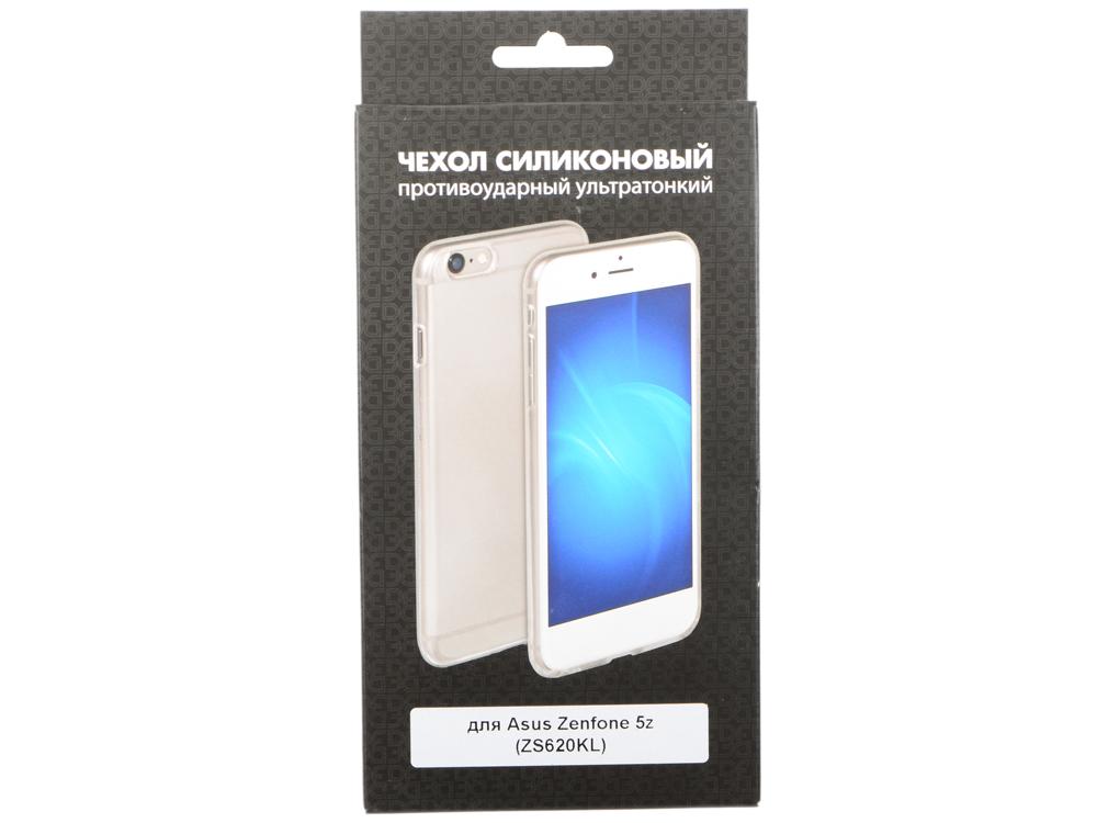 Силиконовый супертонкий чехол для Asus Zenfone 5z (ZS620KL) DF aCase-49 чехол soft touch для asus zenfone 3 ze552kl df aslim 17