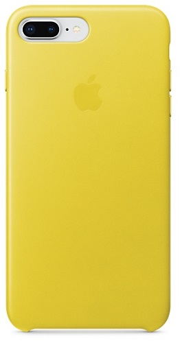 iPhone 8 Plus / 7 Plus Leather Case - Spring Yellow цена