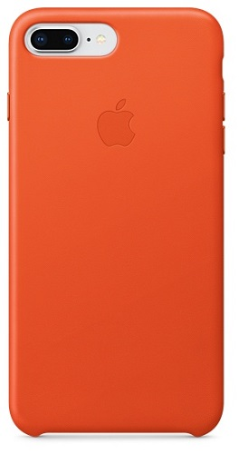 Чехол-накладка для iPhone 8 Plus / 7 Plus Apple Leather Case Bright Orange клип-кейс, кожа