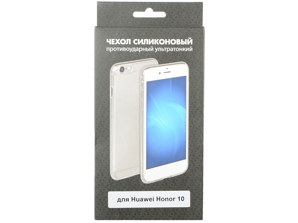 Чехол-накладка для Huawei Honor 10 DF hwCase-56 клип-кейс, прозрачный полиуретан