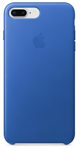 Чехол-накладка для iPhone 8 Plus / 7 Plus Apple Leather Case Electric Blue клип-кейс, кожа