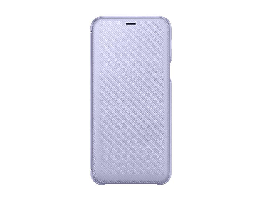 Чехол (флип-кейс) Samsung для Samsung Galaxy A6+ (2018) Wallet Cover фиолетовый (EF-WA605CVEGRU) mooncase senior leather flip wallet card slot bracket back чехол для cover samsung galaxy s6 фиолетовый