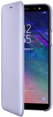 Чехол (флип-кейс) Samsung для Samsung Galaxy A6 (2018) Wallet Cover фиолетовый (EF-WA600CVEGRU) кейс для назначение ssamsung galaxy a6 2018 a6 2018 кошелек бумажник для карт со стендом чехол сова твердый кожа pu для a6