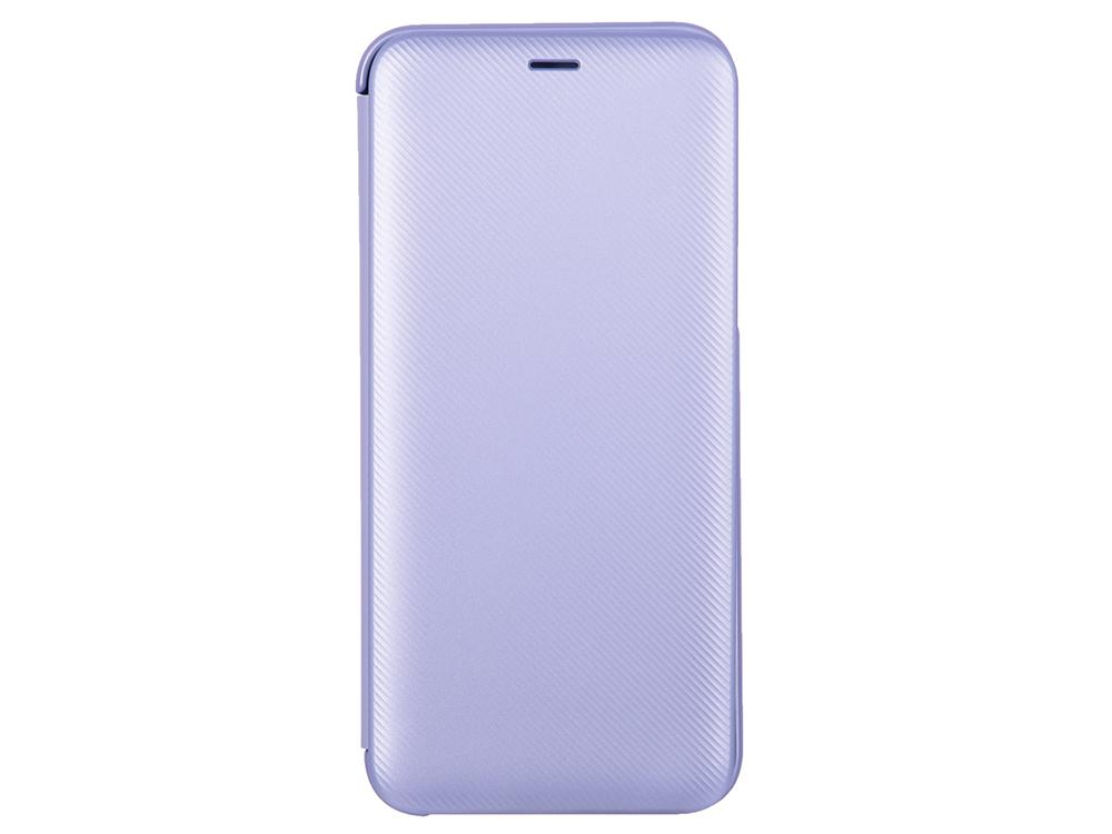 Чехол-книжка для Samsung Galaxy A6 2018 Samsung Wallet Cover Purple флип, полиуретан, поликарбонат чехол книжка samsung flip wallet для samsung galaxy j3 2016 золтистый
