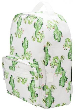 Рюкзак ACTION Кактусы, городской, размер 40х28х14 см, с принтом, мягкая уплотненная спинка, д/девоче зеркало косметическое belberg bz 02 с подсветкой