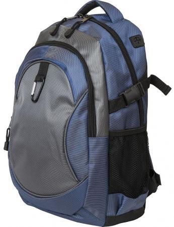 Рюкзак ACTION городской, размер 45x28x13 см, мягкая спинка, синий с черным, унисекс action action рюкзак из россии с любовью синий